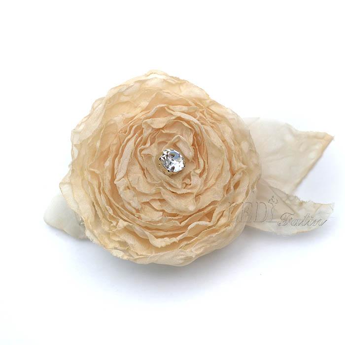 """Цветок из шифона """"Чайная роза"""" с подсветкой"""