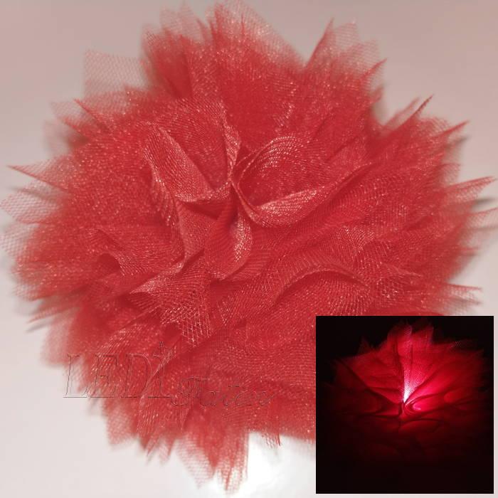 "Заколка для волос ""Цветок красная корона"""