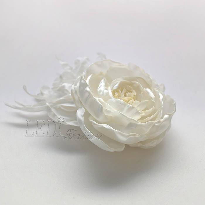 """Цветок из ткани """"Роза"""" с подсветкой"""