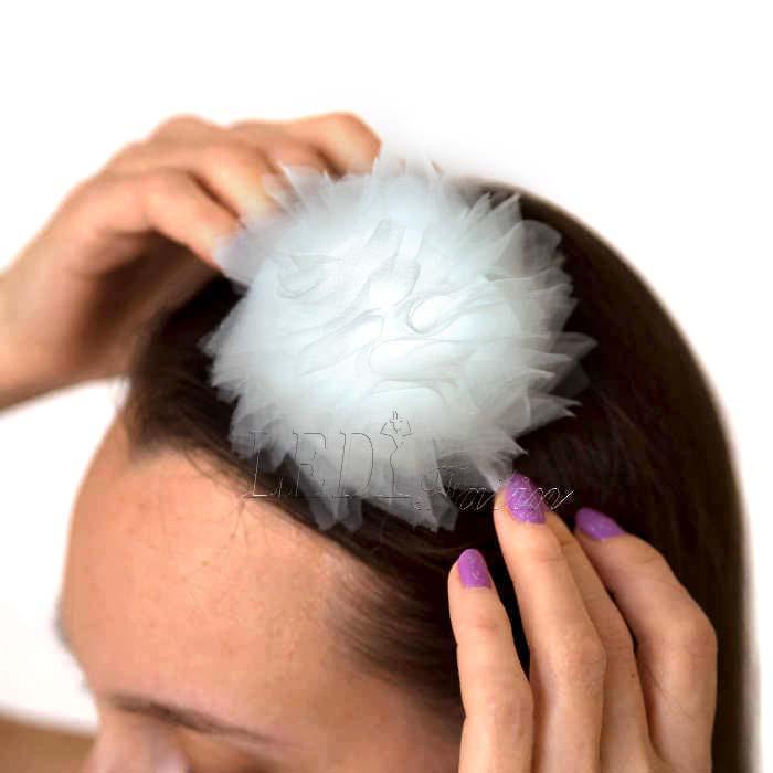 """Белый ободок для волос с цветами """"Корона айвори"""""""