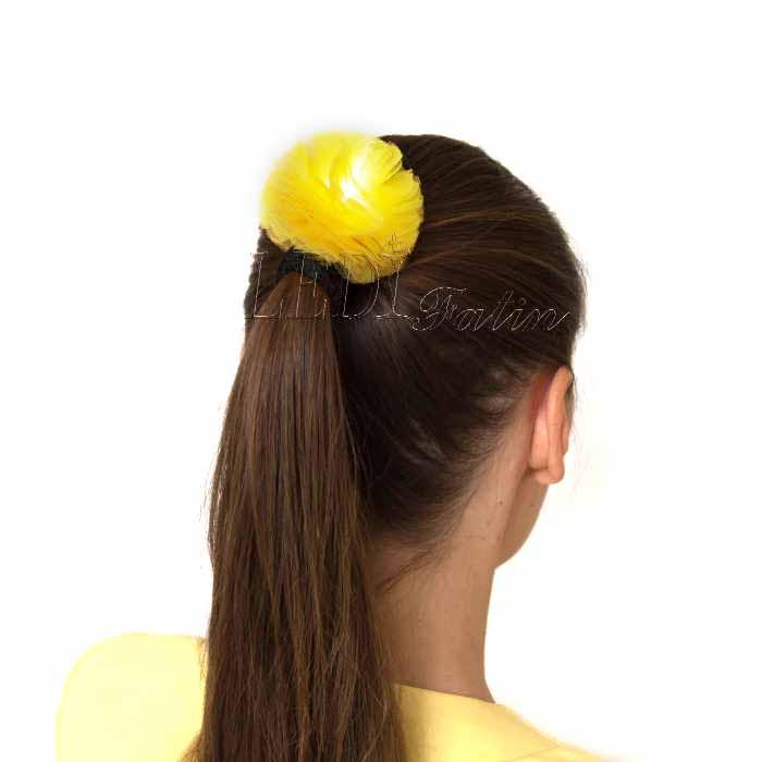 """Заколка для волос """"Цветок шарик Мимоза"""""""