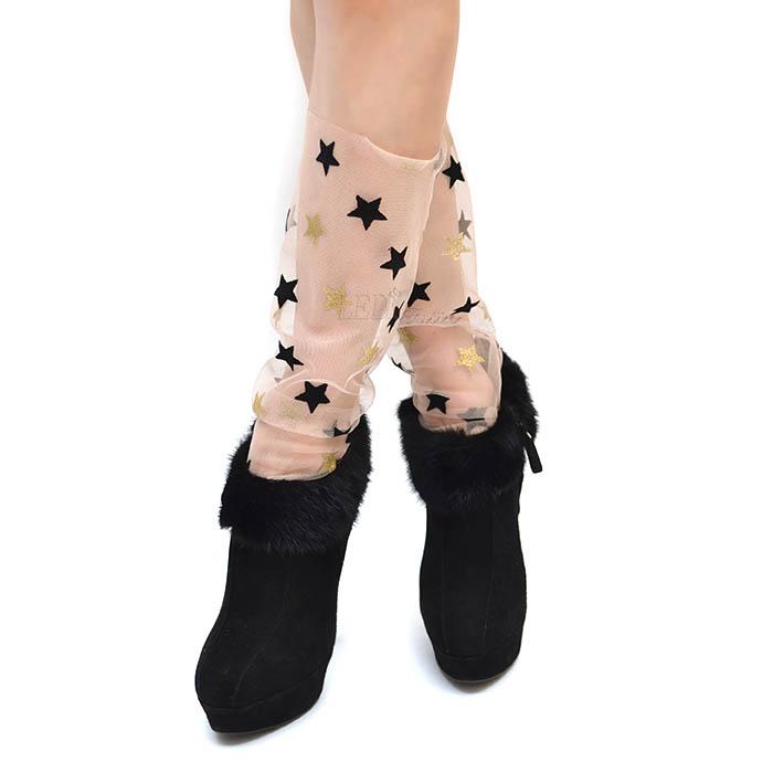 Носочки пудровые со сзвездами