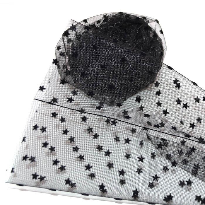 Носки чёрные с бархатными мелкими звёздами