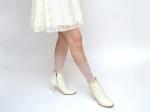 Носочки белые с белыми сердечками
