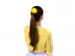 "Резинка для волос ""Цветок шарик Мимоза"""