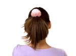 """Резинка для волос """"Цветок пудровый шарик"""""""
