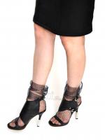 Носочки черные в ромбики серебро