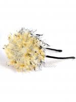 """Ободок для волос с цветами """"Черное золото"""""""
