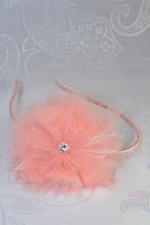 """Ободок для волос с цветами """"Персиковый лотус"""""""