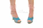 Носочки пудровые в пудровый горошек