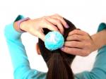 """Резинка для волос """"Цветок шарик Аквариуса"""""""