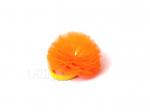 """Резинка для волос """"Цветок шарик оранжевый неон"""""""