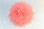 """Заколка для волос """"Цветок персиковая корона"""""""