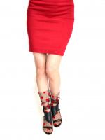 Носочки черные в красный горошек