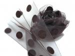 Носочки горький шоколад в горошек