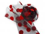 Носочки черные в крупный красный горошек
