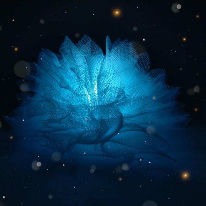 """Заколка для волос """"Цветок корона Аквариуса"""""""