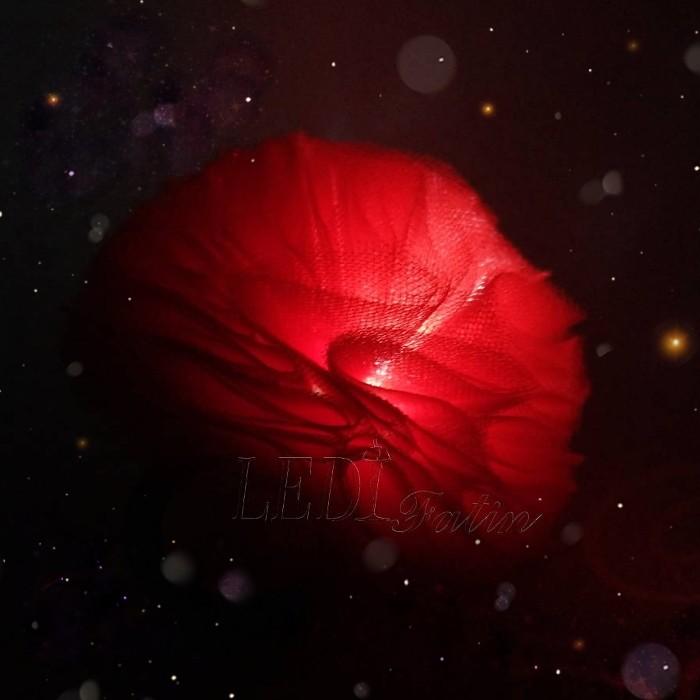 """Резинка для волос """"Цветок красный шарик"""""""